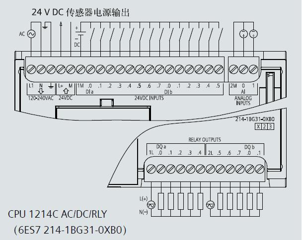 s7-1200plc|西门子s7-1200 cpu 1214c中央处理单元接线图